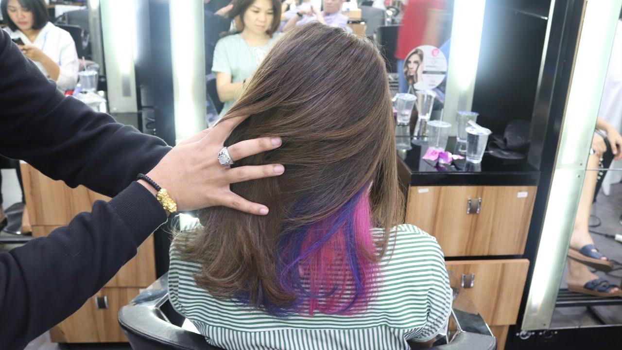 gunting rambut cewe model oval trend masa kini warna ...