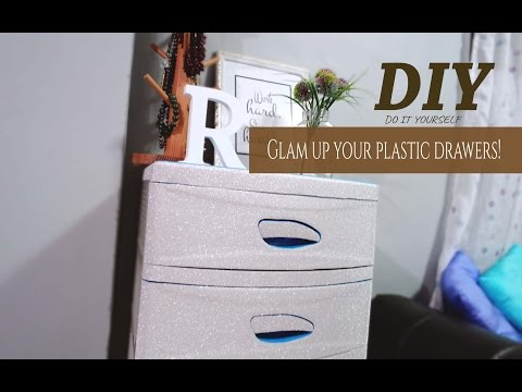 DIY | Drawer hack | Glam up your plastic drawers!