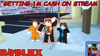 ROBLOX JAILBREAK GETTING 1M CASH ON STREAM?!?! | Roblox JailBreak