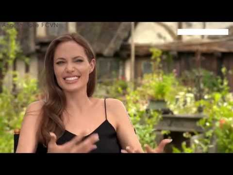 Angelina Jolie and Vivienne in Maleficent - Maleficent Interview 2014
