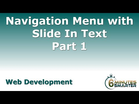 Navigation Menu with Slide In Text - Part 1