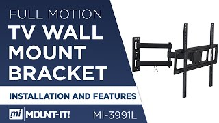 Mount-It! MI-3991L TV Wall Mount Bracket with Full Motion Arm 37