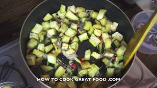 Asian Wok Stir Fry Eggplant Recipe  - Aubergine