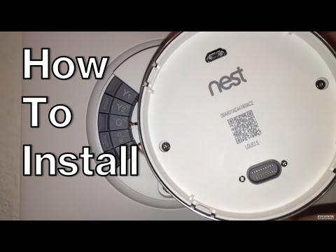 How To Install Nest 3rd Gen Smart Learning Thermostat