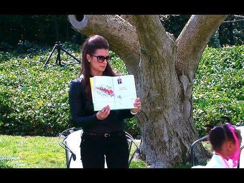 "Race Car Danica Patrick >> 2013 White House Easter Egg Roll: Danica Patrick Reads ""Go, Dog. Go!"" - YouTube"