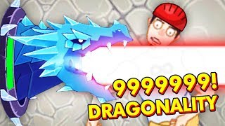 MAXIMUM DAMAGE WITH THE NEW DRAGON IN HAPPY ROOM (Happy Room Dragonality Funny Gameplay)