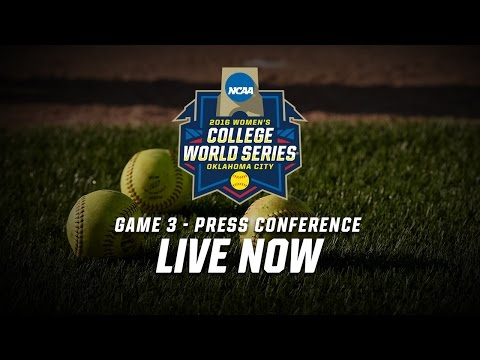 2016 Women's College World Series - Game 3 Postgame Press Conference