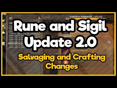 Guild Wars 2 - Rune and Sigil Update 2 0 (Salvaging and Crafting)