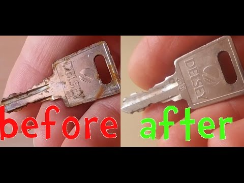 How To Remove Rust From Keys And Tools With Vinegar And Baking Soda