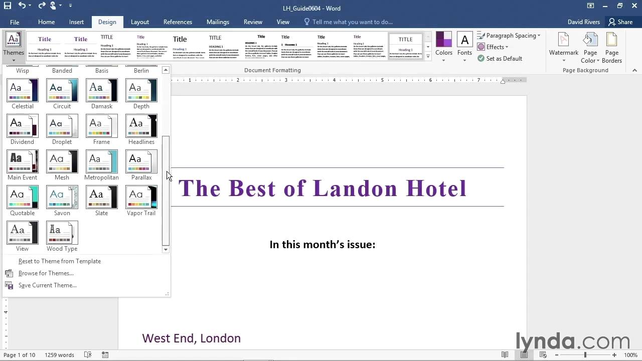 lecture creating your own themes and style sets microsoft lecture 24 creating your own themes and style sets microsoft office word 2016