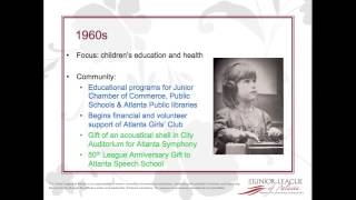Junior League of Atlanta - History of the JLA Since 1916