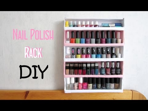 Diy N 1 Nail Polish Rack With Cardboard You