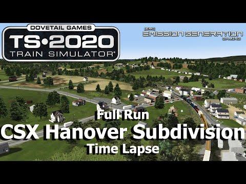 CSX Hanover Subdivision - Time Lapse - Train Simulator 2020 |