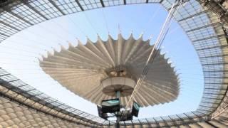 Stadion Narodowy - SZYBKIE rozsunięcie dachu - 2.10.2011 r.