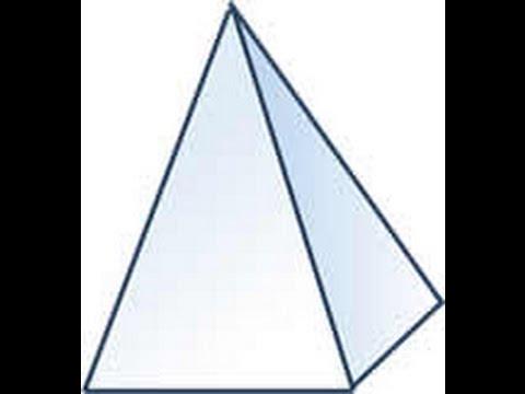 Como Hacer Una Pirámide Con Base Cuadrada Facil Y Sencillo Con Su Figura 3d Youtube