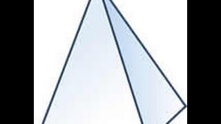 como hacer una pirámide con base cuadrada facil y sencillo  con su figura 3D