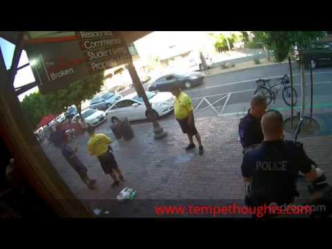 Tempe, AZ Full Version of suspect resisting arrest and then punched by police officer