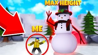 I Created THE TALLEST SNOWMAN and he's VERY COOL (Roblox Snowman Simulator)