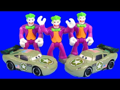 Disney Pixar Cars Army Car McQueen Saves Army Mater from Imaginext Replica Joker Sarge Mission