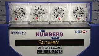 Midday Numbers Game Drawing: Sunday, July 15, 2018 thumbnail