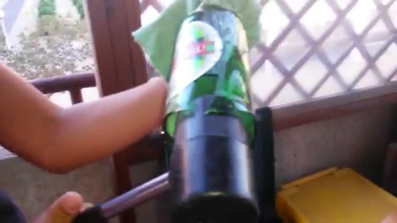 Come Forare Una Bottiglia Di Vetro.Come Far Esplodere Il Fondo Di Una Bottiglia Di Vetro Youtube
