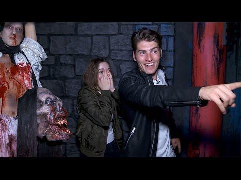 Gregg Sulkin & Joey King's Knott's Scary Farm Nightmare