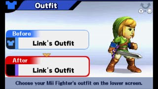 Super Smash Bros (3DS) - All DLC Bundle 1 Costumes (Mii Fighter Outfits and Headgear)