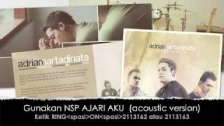 "adrian martadinata ""AJARI AKU"" acoustic version NEW!!!!"