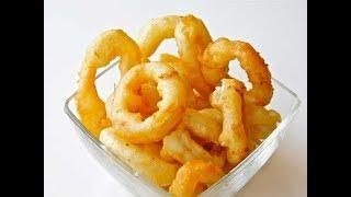 Кольца Кальмаров в кляре / Как готовить кальмары легко / Рецепт кляра для кальмаров