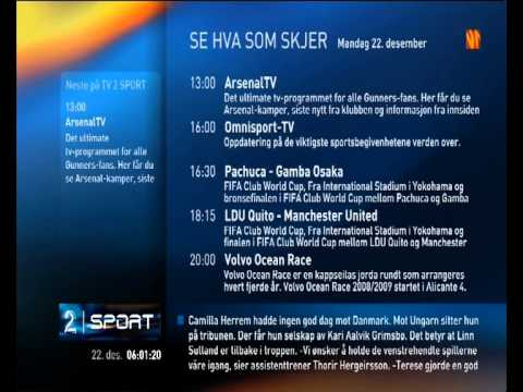 TV2 Sport on TV2 Zebra Norway - Cool Off Air Music 2008