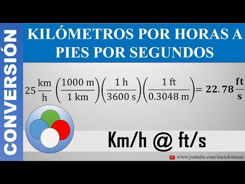 Conversión De Kilómetros Por Horas A Pies Por Segundos Km H A Pies S Youtube