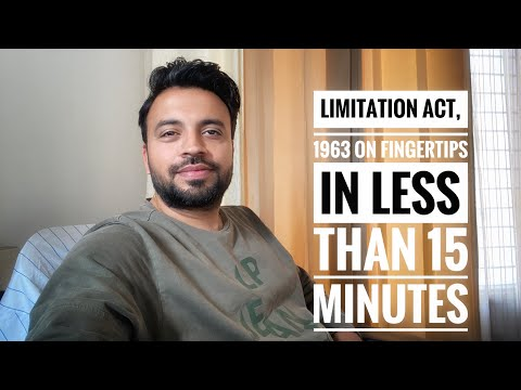 Limitation Act, 1963 on fingertips in less than 15 minutes