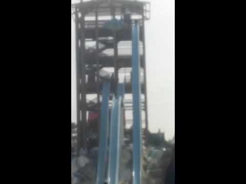 Death Slide, Happy 2 Be Alive, Sore Bum and Back, Iceland Water Park, Ras al Khaimah, Brave Boy hehe