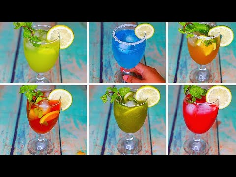 6 Refreshing Summer Drinks | Cold Drinks For Summer | Yummy Summer Drinks Recipe