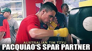 TIM TZSYU - PACQUIAO'S SPAR PARTNER FOR HIS FIGHT WITH THURMAN