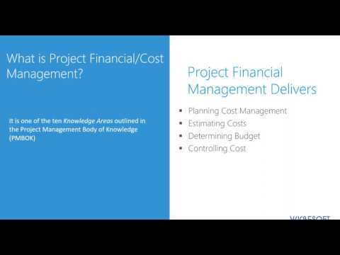 PROJECT PORTFOLIO FINANCIAL MANAGEMENT IN PROJECT ONLINE