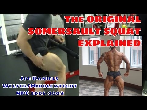 Joe Daniels Somersault Squat : Focused Quad Building Exercise for Physique and Kettlebell Sport