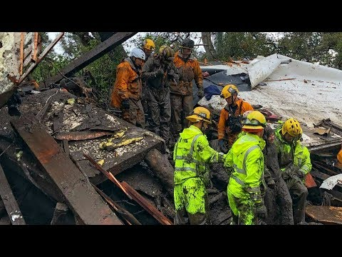 15 dead as locals ignore mudslide warnings in fire-ravaged California HD