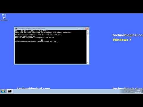Windows 7: reset tcp/ip and winsock