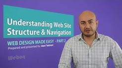 Website Basic Structure and Navigation -  Web Design Basics - Episode 2