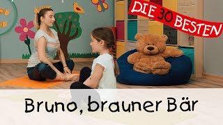 Bruno, brauner Bär - Yoga Bewegungslieder für Kinder || Kinderlieder