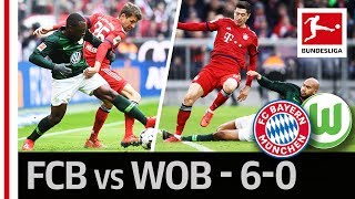 FC Bayern München vs. VfL Wolfsburg I 6-0 I New League Leaders and Lewandowski's New Record