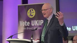 Stuart Agnew speaks at UKIP European Parliamentary Elections Press Conference