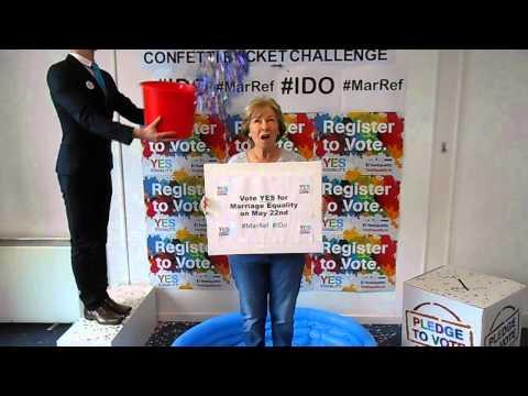 Confetti Bucket Challenge for Marriage Equality with Eilish O'Carroll #IDO #MarRef