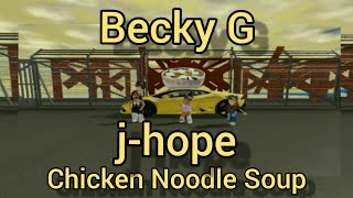 j-hope 'Chicken Noodle Soup (feat. Becky G)' Roblox Music Video