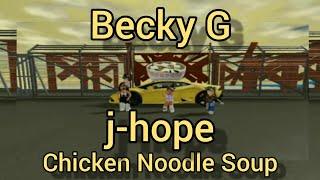 j-hope 'Chicken Noodle Soup (feat. Becky G)' Roblox Music Vidéo