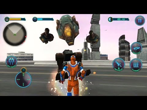 ► Superhero Flying Robot Grand City Battle - Robot Crime City Rescue Android Gameplay
