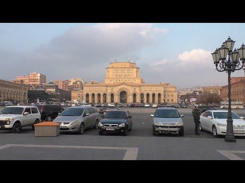 Yerevan, 10.02.19, Su, ( на рус.), Video-2, Площадь Республики.