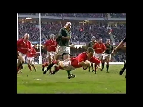 Scott Gibbs simple hand off try vs South Africa 2000