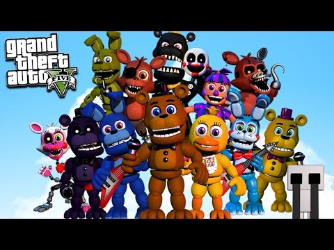 CLICK HERE OR THEY'LL GET YOU!!! FNAF In GTA 5 Gameplay!!! (GTA 5 Mods For Kids FNAF Funny Moments)